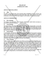 Bylaws Corporate (Delaware)