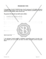 Promissory Note with Installment