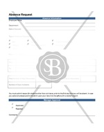 Absence Request Form