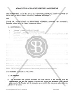 Accounting and Audit Services Agreement