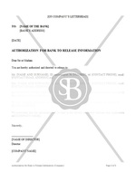 Authorization for Bank to Release Information