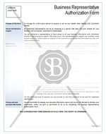 Business Representative Authorisation Form
