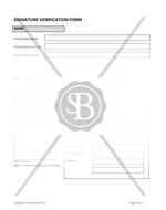 Signature Verification Form