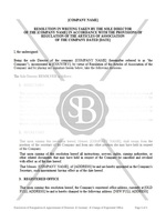 Resolution of Resignation and Appointment of Directors and Secretary