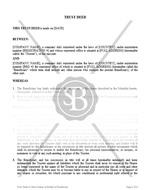 Trust Deed to Hold Shares on Behalf of Beneficiary