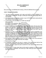 Bylaws Corporate (General)