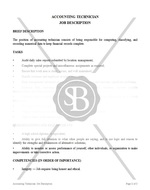 Accounting Technician Job Description