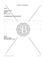 Authorization to Negotiate Letter
