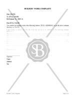 Builders' Work Complaint