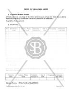 Trust Information Sheet