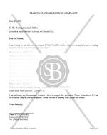 Trading Standards Officer Complaint