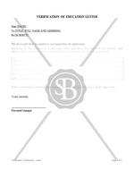 Verification of Education Letter