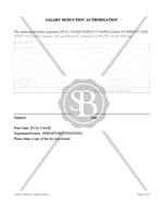 Salary Deduction Authorisation