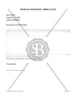 Third Letter of Dismissal