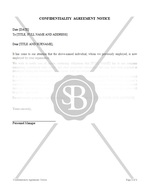 Confidentiality Agreement Notice