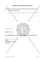 Affidavit of Statutory Declaration