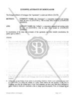 Estoppel Affidavit of Mortgagor