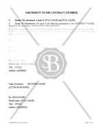 Amendment to the Contract Template