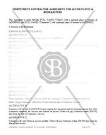 Accountants and Bookkeepers Agreement