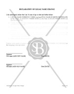 Declaration of Legal Name Change