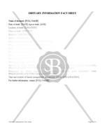 Obituary Information Fact Sheet