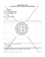 Promissory Note Loan Repayable in Lump Sum with Interest