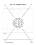 Activity Resource Requirements Form