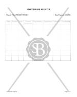 Stakeholder Register for Project Management