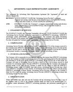 Advertising Sales Representation Agreement