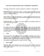 Exclusive Sollicitation /Sales Commission Agreement