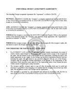 Industrial Design Assignment Agreement