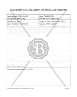 Client Service Satisfaction and Needs Analysis Form