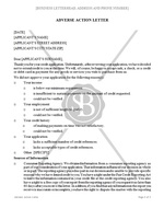 Adverse Action Letter
