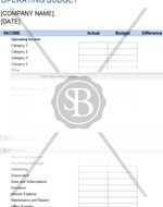 Operating Budget Worksheet